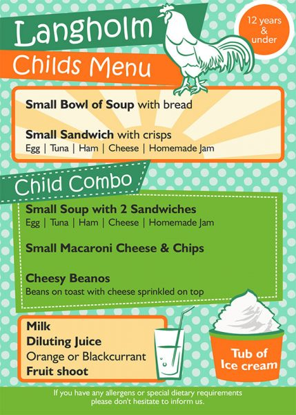View our Kids Menu